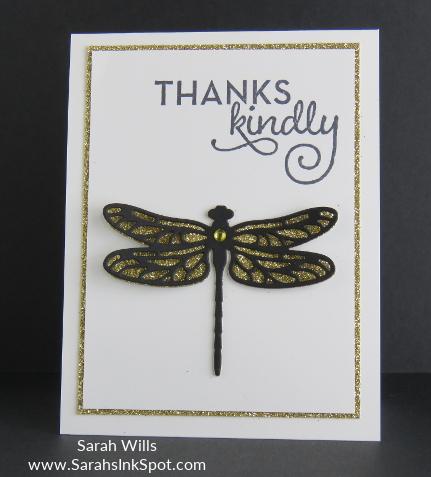 goldglitterdragonflycard