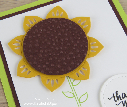 Stampin-Up-Eastern-Medallions-Thinlits-Sunflower-Thank-You-Card-Idea-Sarah-Wills-Sarahsinkspot-Stampinup-FlowerCloseUp1
