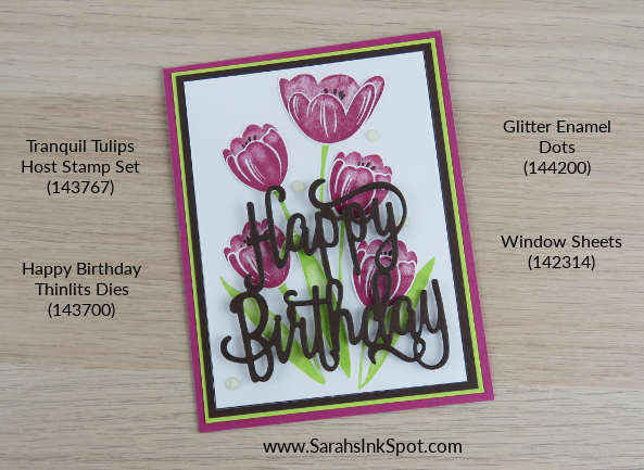 Stampin-Up-Tranquil-Tulips-Happy-Birthday-Thinlits-Card-Idea-Host-Sarah-Wills-Sarahsinkspot-Stampinup-Pinterest