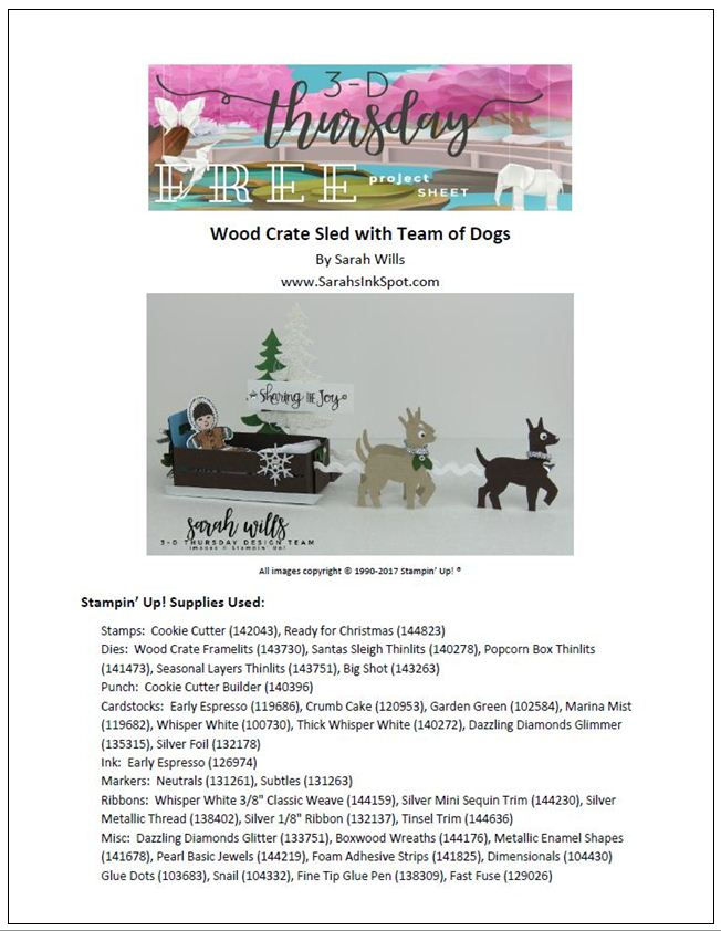 Stampin-Up-3D-Thursday-Dog-Sled-Wood-Crate-Santas-Sleigh-Cookie-Cutter-Reindeer-Die-ProjectSheetFront