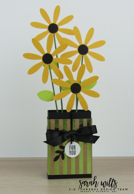 Stampin-Up-3D-Thursday-Ghirardelli-Chocolate-Flower-Vase-Daisy-Idea-Sarah-Wills-Main