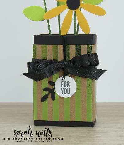 Stampin-Up-3D-Thursday-Ghirardelli-Chocolate-Flower-Vase-Daisy-Idea-Sarah-Wills-Pot