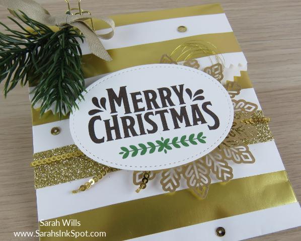 Stampin-Up-3D-Treat-Bag-Merry-Mistletoe-Sprigs-Gold-Snowflake-Idea-Sarah-Wills-Sarahsinkspot-Stampinup-TreatBagCloseUpA