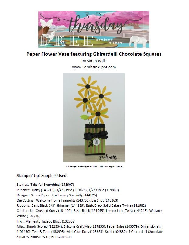 Stampin-Up-Ghirardelli-Chocolate-Flower-Vase-Daisy-Idea-Sarah-Wills-Sarahsinkspot-Project-Sheet-Photo