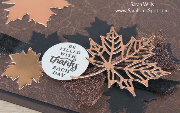 Stampin-Up-Copper-Emboss-Tree-Rings-Foil-Leaf-Seasonal-Layers-Layered-Leaves-Fall-Thanksgiving-Card-Idea-Sarah-Wills-Sarahsinkspot-Stampinup-Closeup