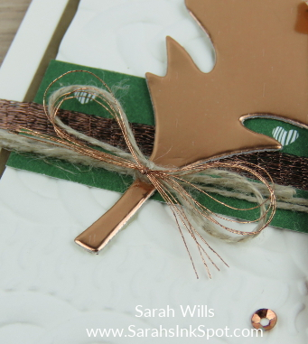 Stampin-Up-Merry-Cafe-Fall-Copper-Foil-Leaf-Pumpkin-Spice-Latte-Cable-Knit-Card-Idea-Sarah-Wills-Sarahsinkspot-Stampinup-BowCloseup
