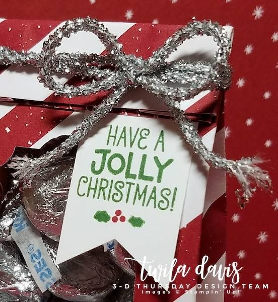 Stampin-Up-3D-Thursday-Be-Merry-DSP-Hershey-Kiss-Treat-Bag-Tinsel-Idea-Sarah-Wills-Sarahsinkspot-Stampinup-Closeup