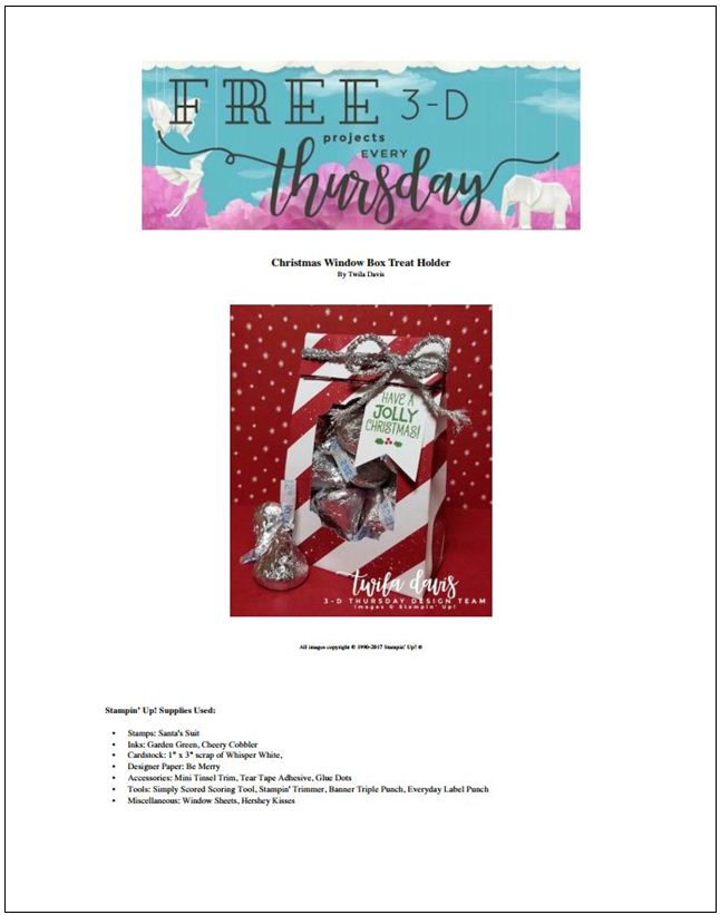 Stampin-Up-3D-Thursday-Be-Merry-DSP-Hershey-Kiss-Treat-Bag-Tinsel-Idea-Sarah-Wills-Sarahsinkspot-Stampinup-ProjectSheetCover