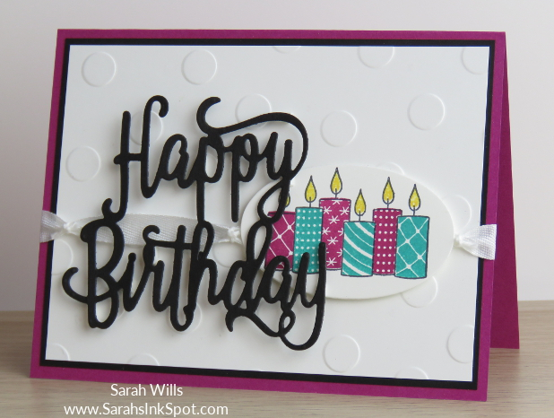 A Card With Candles From Merry Patterns And A Happy Birthday Overlay