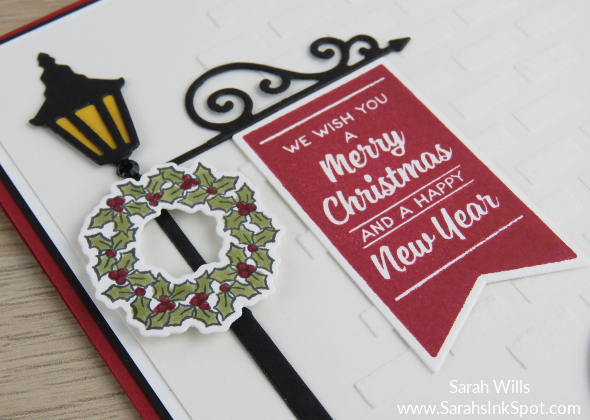 Stampin-Up-Inky-Friends-Brightly-Lit-Christmas-Lampost-Build-a-Bike-Ride-Thinlits-At-Home-Christmas-Card-Idea-Sarah-Wills-Sarahsinkspot-Stampinup-Banner-Wreath