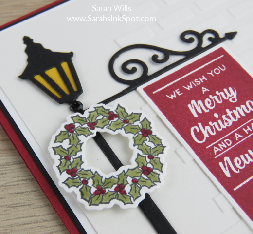 Stampin-Up-Inky-Friends-Brightly-Lit-Christmas-Lampost-Build-a-Bike-Ride-Thinlits-At-Home-Christmas-Card-Idea-Sarah-Wills-Sarahsinkspot-Stampinup-Wreath