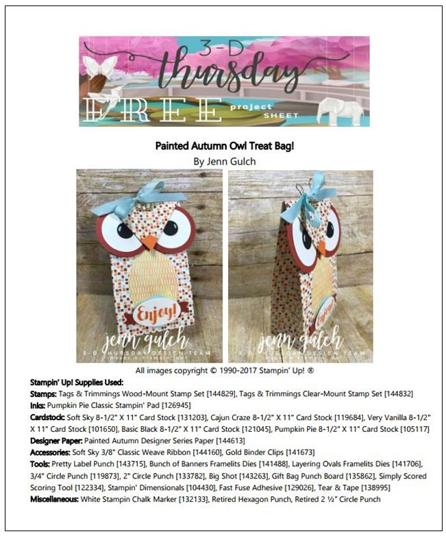 Stampin-Up-3D-Thursday-Painted-Autumn-DSP-Owl-Treat-Bag-Idea-Sarah-Wills-Sarahsinkspot-Stampinup-ProjectSheet-Photo
