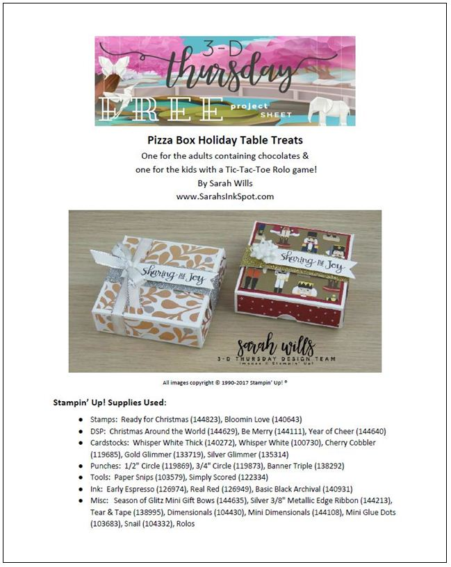 Stampin-Up-3D-Thursday-Pizza-Box-Tic-Tac-Toe-Holiday-Table-Favor-Nutcracker-Rolo-Kid-Game-Idea-Sarah-Wills-Sarahsinkspot-Stampinup-ProjectSheetCover