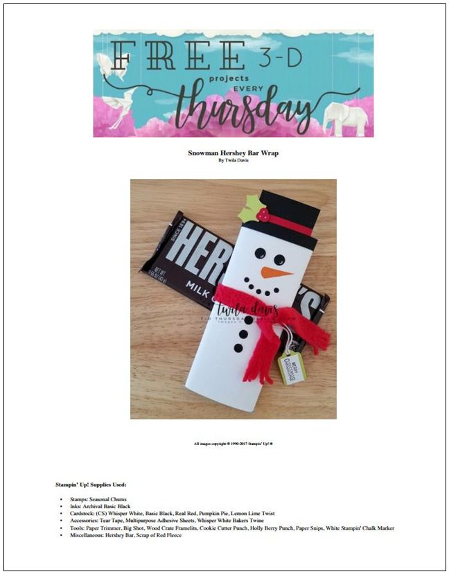 Stampin-Up-3D-Thursday-Project-Sheet-Seasonal-Chums-Snowman-Hershey-Bar-Wrapper-Christmas-Holiday-Treat-Sarah-Wills-Sarahsinkspot-Stampinup-ProjectSheetPhoto