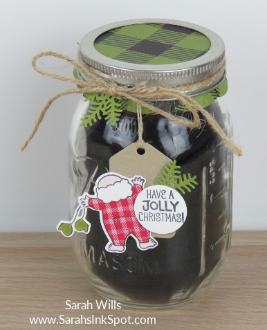 Stampin-Up-Inky-Friends-Gifts-Santas-Suite-Topper-Tag-Mason-Jar-Gloves-Idea-Sarah-Wills-Sarahsinkspot-Stampinup-Black-Jar