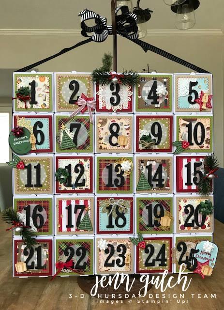 Stampin-Up-3D-Thursday-Christmas-Advent-Calendar-Idea-Mini-Pizza-Boxes-Sarah-Wills-Sarahsinkspot-Stampinup-Main1