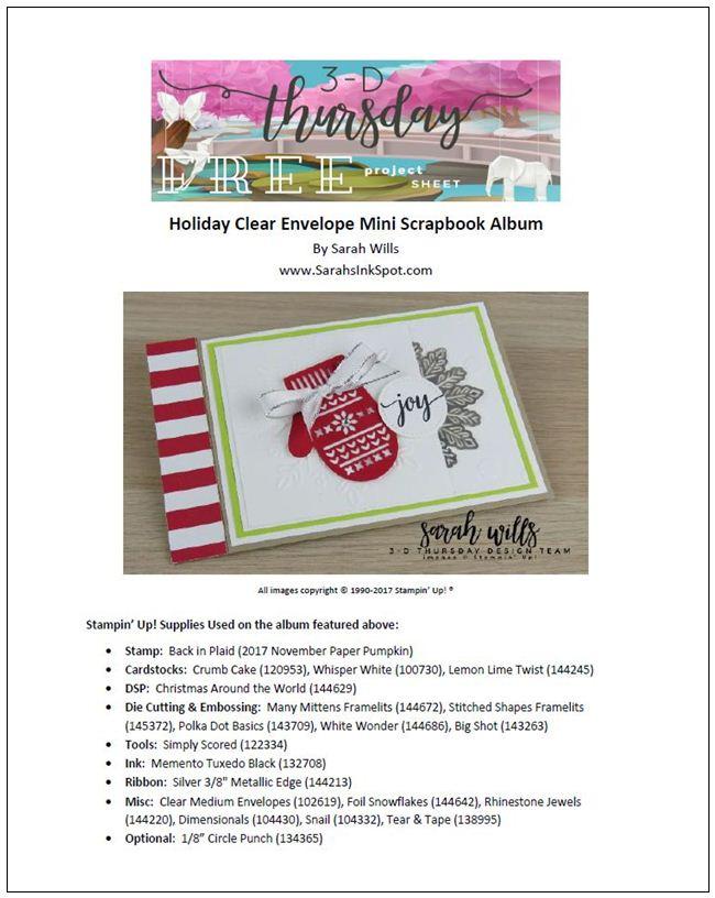 Stampin-Up-3D-Thursday-Project-Sheet-Clear-Envelope-Mini-Scrapbook-Mittens-Tutorial-Snowflake-Idea-Sarah-Wills-Sarahsinkspot-Stampinup-ProjectSheetCover