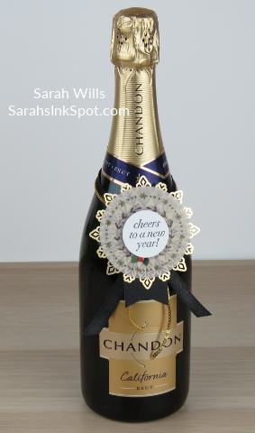 Stampin-Up-Inky-Friends-Blog-Hop-New-Year-Blends-Cheers-to-the-Year-Champagne-Bottle-Topper-Tag-Foil-Snowflake-Idea-Sarah-Wills-Sarahsinkspot-Stampinup-Main