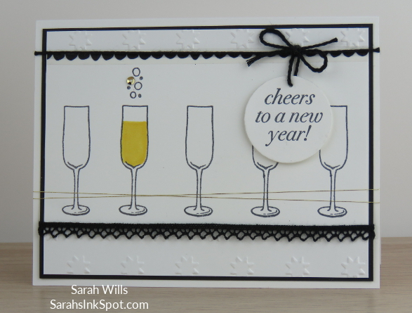 Stampin-Up-Inky-Friends-Blog-Hop-New-Year-Blends-Cheers-to-the-Year-Champagne-Glass-Bubbles-Idea-Sarah-Wills-Sarahsinkspot-Stampinup-Card