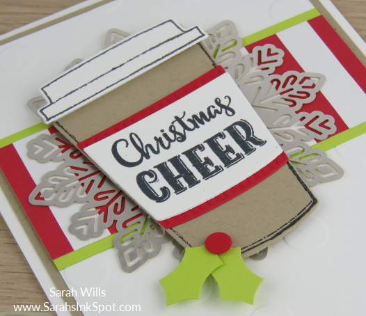 Stampin-Up-Merry-Cafe-Coffee-Cups-Framelits-Christmas-Holiday-Foil-Snowflake-Card-Idea-Sarah-Wills-Sarahsinkspot-Stampinup-CAS-Clean-Simple-CloseUp
