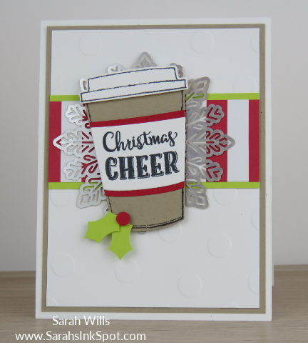 Stampin-Up-Merry-Cafe-Coffee-Cups-Framelits-Christmas-Holiday-Foil-Snowflake-Card-Idea-Sarah-Wills-Sarahsinkspot-Stampinup-CAS-Clean-Simple-Main1