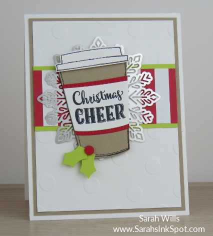 Stampin-Up-Merry-Cafe-Coffee-Cups-Framelits-Christmas-Holiday-Foil-Snowflake-Card-Idea-Sarah-Wills-Sarahsinkspot-Stampinup-CAS-Clean-Simple-Main2