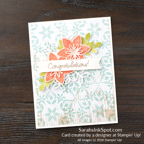 Stampin-Up-2018-Snowflake-Showcase-Happiness-Surrounds-Snowfall-Thinlits-Medallion-Background-Wood-Floral-Flower-Congrats-Congratulations-Card-Idea-Sarah-Wills-Sarahsinkspot-Stampinup-149744-149692