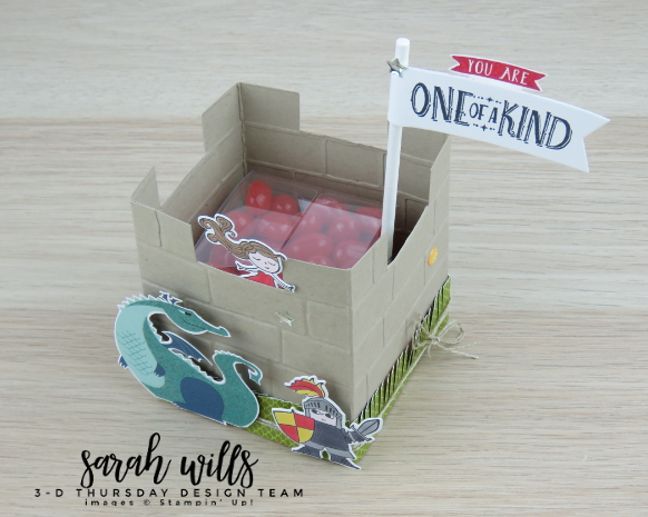 Stampin-Up-3D-Thursday-Myths-Magic-Castle-Treat-Box-Dragon-Knight-Wizard-Favor-Birthday-Valentine-Magical-Mates-Day-Idea-Sarah-Wills-Sarahsinkspot-Stampinup-View-Down