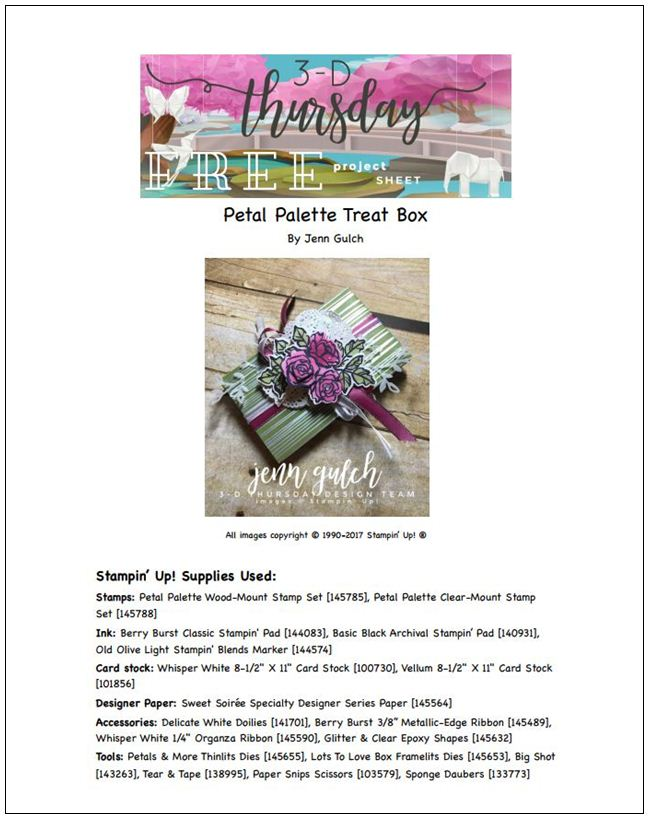 Stampin-Up-3D-Thursday-Occasions-2018-Petal-Palette-Sweet-Soiree-Lots-to-Love-Box-Idea-Sarah-Wills-Sarahsinkspot-Stampinup-Project-Sheet-Cover
