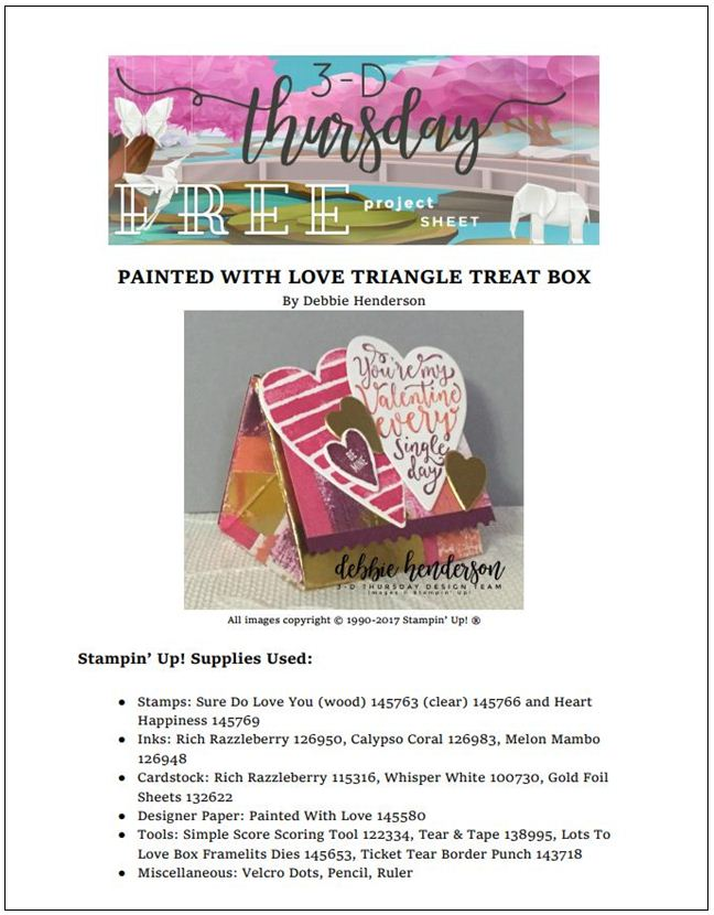 Stampin-Up-3D-Thursday-Painted-With-Love-Triangle-Treat-Box-Sure-Do-Love-You-Heart-Happiness-Lots-to-Love-Framelits-Idea-Sarah-Wills-Sarahsinkspot-Stampinup-Cover