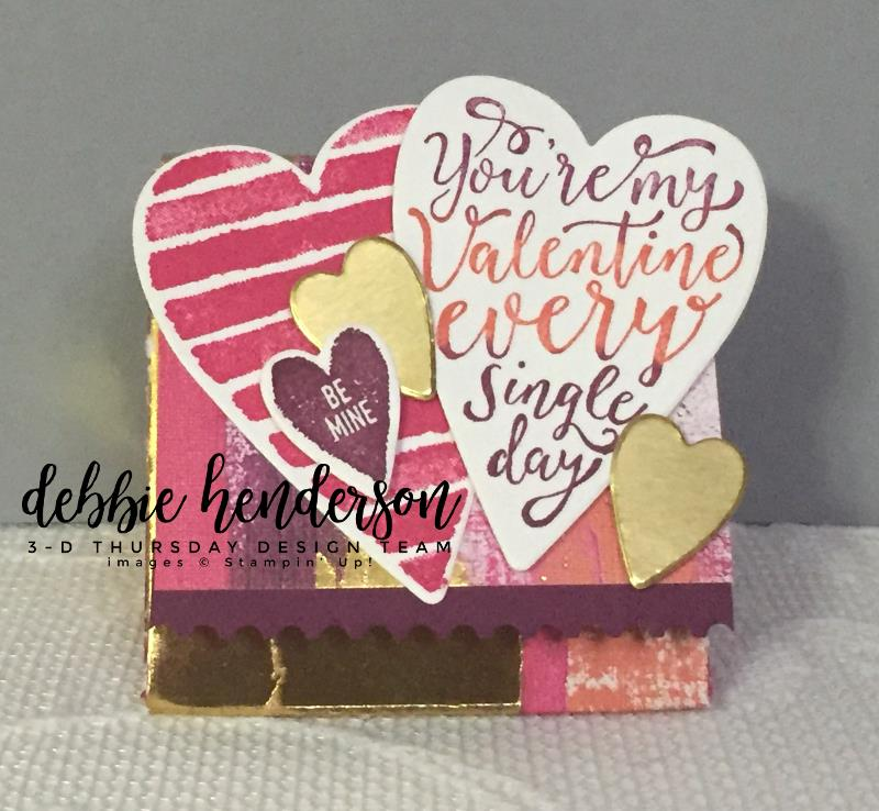 Stampin-Up-3D-Thursday-Painted-With-Love-Triangle-Treat-Box-Sure-Do-Love-You-Heart-Happiness-Lots-to-Love-Framelits-Idea-Sarah-Wills-Sarahsinkspot-Stampinup-Front