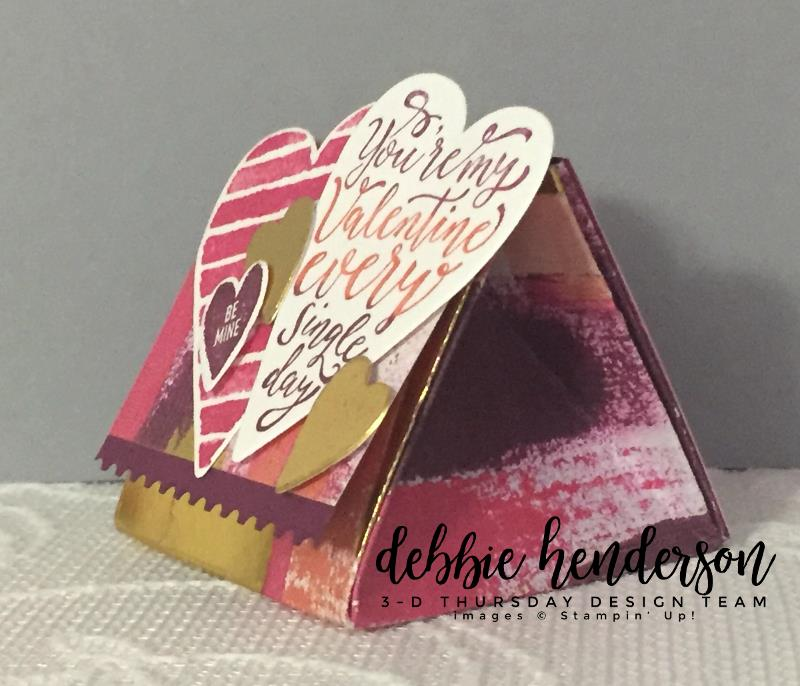 Stampin-Up-3D-Thursday-Painted-With-Love-Triangle-Treat-Box-Sure-Do-Love-You-Heart-Happiness-Lots-to-Love-Framelits-Idea-Sarah-Wills-Sarahsinkspot-Stampinup-Side