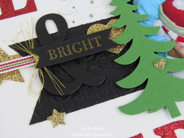 Stampin-Up-8x8-Scrapbook-Page-Christmas-Large-Letters-Be-Merry-Glitter-Paper-Glimmer-Tree-Idea-Sarah-Wills-Sarahsinkspot-Stampinup-CloseUp-2a