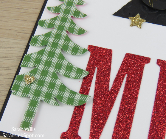 Stampin-Up-8x8-Scrapbook-Page-Christmas-Large-Letters-Be-Merry-Glitter-Paper-Glimmer-Tree-Idea-Sarah-Wills-Sarahsinkspot-Stampinup-CloseUp-3a