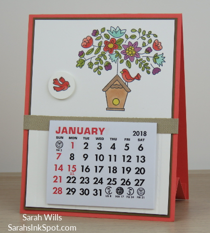 Stampin-Up-Calendar-Easel-Card-Holder-Vippies-Flying-Home-Bird-House-Nest-Tree-Table-Blends-Occasions-Catalog-Idea-Sarah-Wills-Sarahsinkspot-Stampinup-Calypso-Coral
