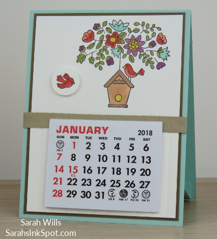 Stampin-Up-Calendar-Easel-Card-Holder-Vippies-Flying-Home-Bird-House-Nest-Tree-Table-Blends-Occasions-Catalog-Idea-Sarah-Wills-Sarahsinkspot-Stampinup-Pool-Party