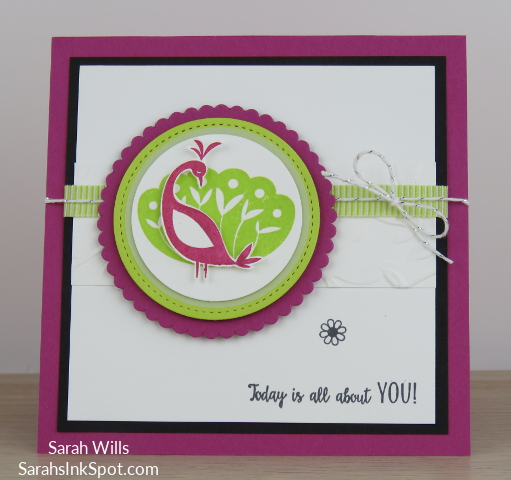 Stampin-Up-Inky-Friends-Blog-Saleabration-SAB-Hop-Beautiful-Peacock-Friend-Thank-You-Card-Idea-Sarah-Wills-Sarahsinkspot-Stampinup-Black-White-Pink-Main