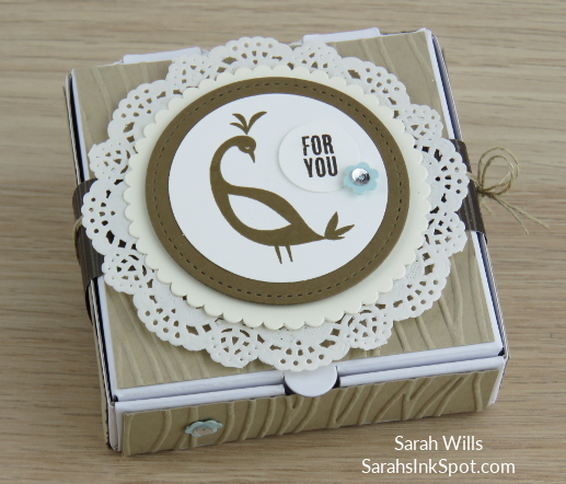 Stampin-Up-Inky-Friends-Blog-Saleabration-SAB-Hop-Beautiful-Peacock-Gift-Treat-Mini-Pizza-Box-Idea-Sarah-Wills-Sarahsinkspot-Stampinup-Bird-Doilies-Harvest-Main1