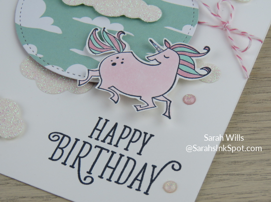 Stampin-Up-Magical-Day-Bundle-Mates-Unicorn-Myths-Magic-DSP-Glimmer-Clouds-Blends-Kids-Girl-Birthday-Card-Idea-Sarah-Wills-Sarahsinkspot-Stampinup-Flying-Uni