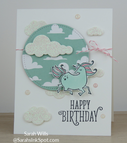 Stampin-Up-Magical-Day-Bundle-Mates-Unicorn-Myths-Magic-DSP-Glimmer-Clouds-Blends-Kids-Girl-Birthday-Card-Idea-Sarah-Wills-Sarahsinkspot-Stampinup-Pool-Party