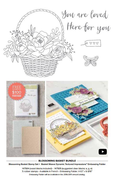 Stampin-Up-2018-Blossoming-Basket-Stamp-Set-Bundle-Basket-Weave-Dynamic-Embossing-Folder-Sarah-Wills-Sarahsinkspot-Stampinup-Saleabration-Catalog-Free-Second-Release-147504-147505
