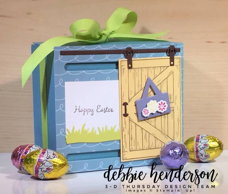 Stampin-Up-3D-Thursday-Sliding-Door-Easter-Treat-Window-Box-Barn-Door-Bundle-Sliding-Door-Framelits-Egg-Occasions-Catalog-2018-Idea-Sarah-Wills-Sarahsinkspot-Stampinup-Closed