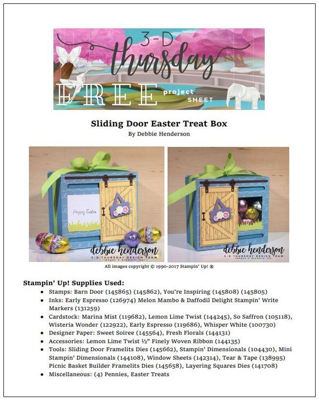 Stampin-Up-3D-Thursday-Sliding-Door-Easter-Treat-Window-Box-Barn-Door-Bundle-Sliding-Door-Framelits-Egg-Occasions-Catalog-2018-Idea-Sarah-Wills-Sarahsinkspot-Stampinup-ProjectSheet-Cover
