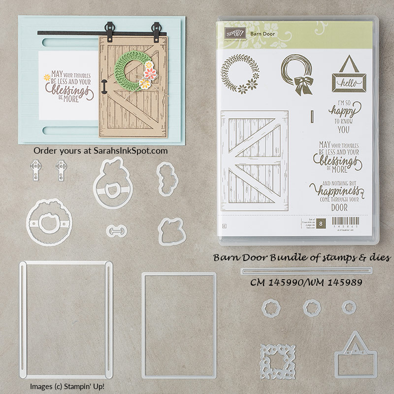 Stampin-Up-Barn-Door-Stamp-Set-Bundle-Sliding-Door-Framelits-Dies-Occasions-Catalog-2018-Sarah-Wills-Sarahsinkspot-Stampinup-145990-145989