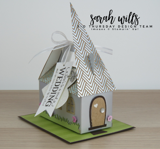 Stampin-Up-3D-Thursday-Blog-Hop-Occasions-2018-Silver-Mini-Gable-Box-Boxes-Home-Sweet-Home-Better-Together-Church-Wedding-Gift-Card-Idea-Sarah-Wills-Sarahsinkspot-Stampinup-Front