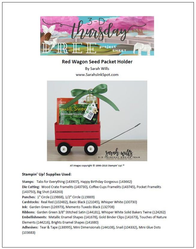 Stampin-Up-3D-Thursday-Wood-Crate-Framelits-Red-Wagon-Seed-Packet-Holder-Tag-Gift-Gardener-Garden-Idea-Sarah-Wills-Sarahsinkspot-Stampinup-Cover