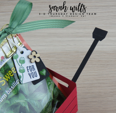 Stampin-Up-3D-Thursday-Wood-Crate-Framelits-Red-Wagon-Seed-Packet-Holder-Tag-Gift-Gardener-Garden-Idea-Sarah-Wills-Sarahsinkspot-Stampinup-Handle