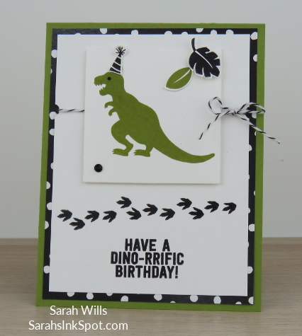 Stampin-Up-No-Bones-About-It-Dinosaur-TRex-Skeleton-Kids-Birthday-Card-Party-Favor-Idea-CAS-Sarah-Wills-Sarahsinkspot-Stampinup-Front