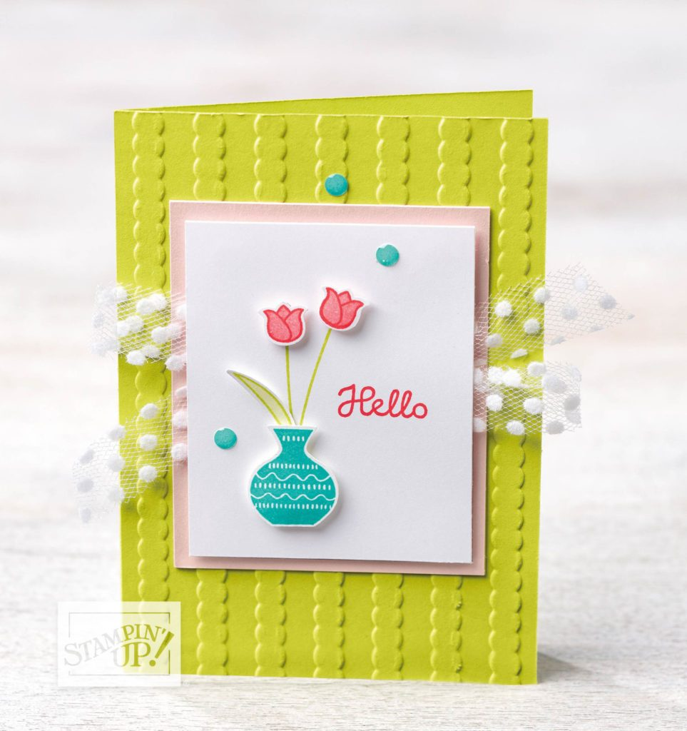 Stampin-Up-2018-Varied-Vases-Bundle-Vases-Builder-Punch-Striped-Scallops-Embossed-Background-Hello-Tulip-Card-Idea-Sarah-Wills-Sarahsinkspot-Stampinup-148381