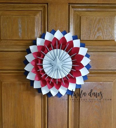 Stampin-Up-3D-Thursday-Patriotic-Paper-Cone-Wreath-July-4th-Memorial-Day-Flag-Red-White-Blue-Home-Decor-Door-Idea-Sarah-Wills-Sarahsinkspot-Stampinup-Main